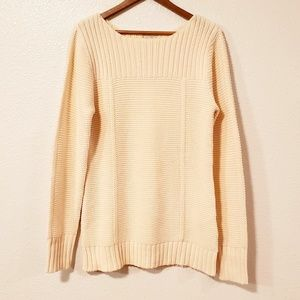 Old Navy Cream Long Sleeves Long Sweater